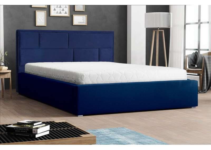 Zagłówek tapicerowany modułowy w łóżku Dekor