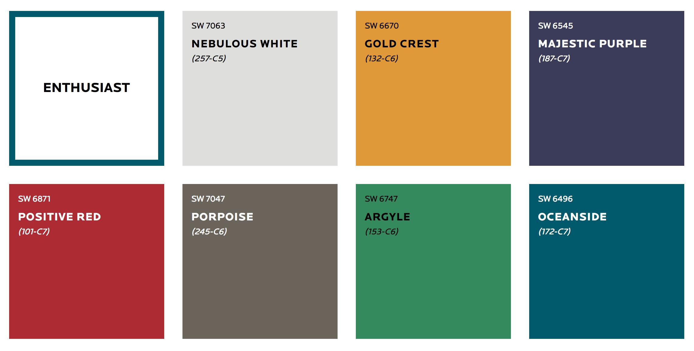 Paleta kolorów na rok 2019 - Enthusiast