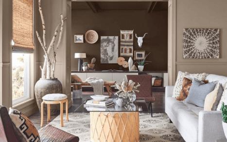 Kolor ścian w salonie w 2019 r. – jak pomalować, by mieć modny salon?