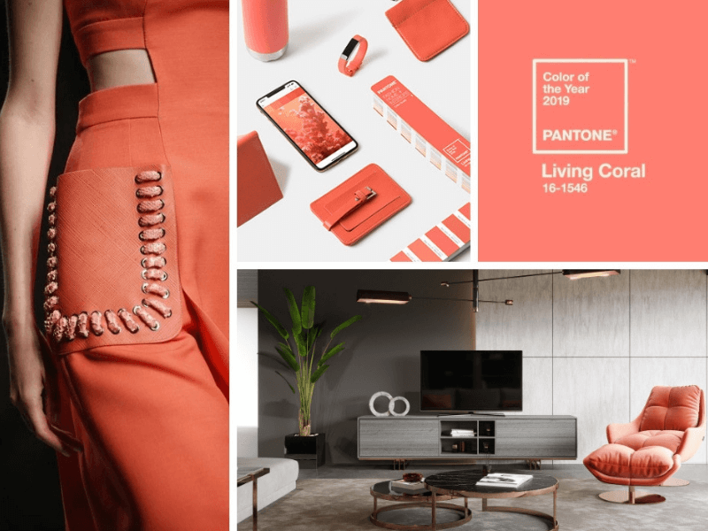 Kolor roku 2019 Pantone w designie, modzie i wnętrzach